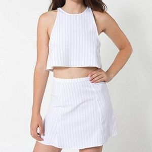 NWOT White Striped American Apparel Skirt
